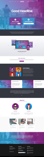 home page psd