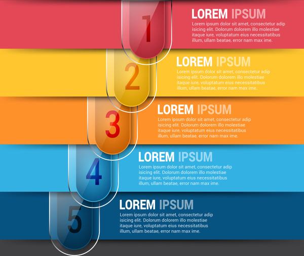 horizontal editable infographics design template