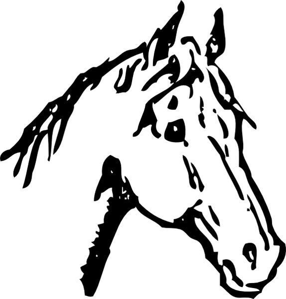 horse head clip art free vector in open office drawing svg svg rh all free download com horse head clip art images horse head clip art black and white