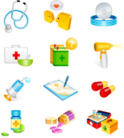 hospital supplies vector icon
