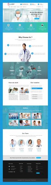hospital web template