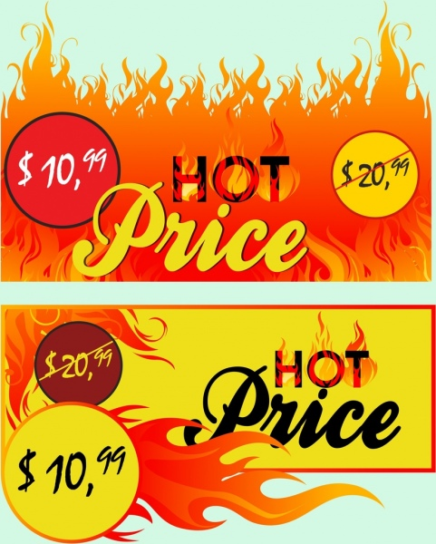hot sales banner red flame texts decoration