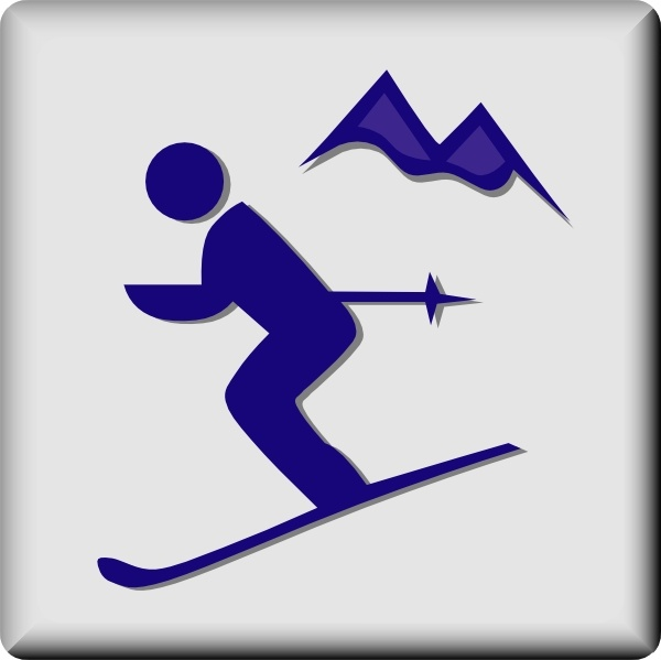 Hotel Icon Ski Area clip art Free vector in Open office ...