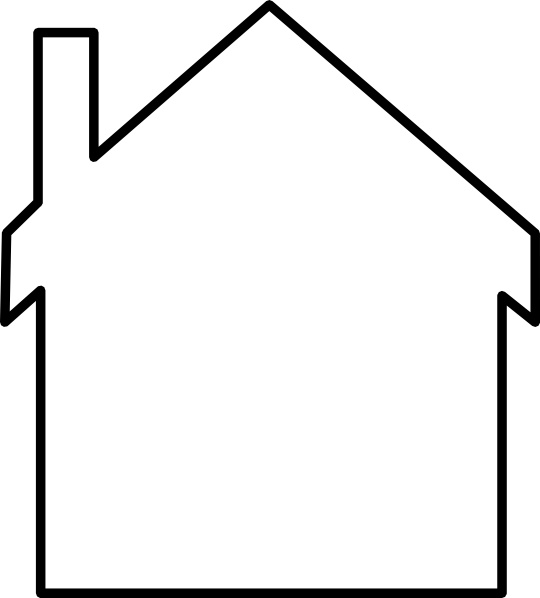 House Silhouette clip art Free vector 20.88KB
