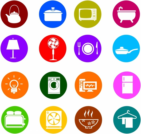 Houseware Color Icons