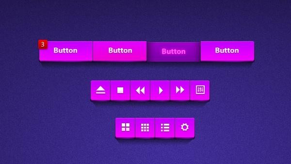 Huge Purple UI Kit