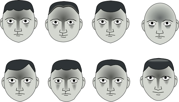 human people cartoon heads clip art free vector in open office
