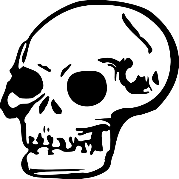 human skull clip art free vector in open office drawing svg svg rh all free download com clipart skull clip art skulls free
