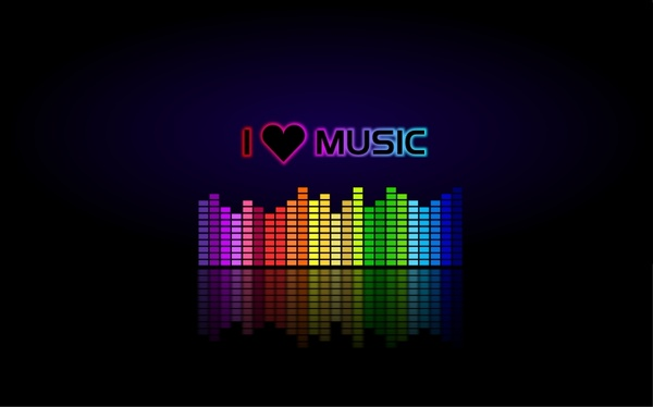 I Love Music Wallpaper Free Vector In Open Office Drawing Svg