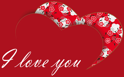 i love you heart card vector