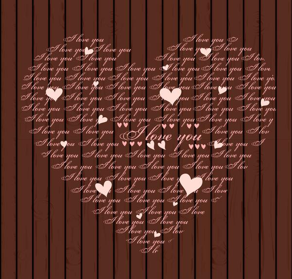 i love you heart shape
