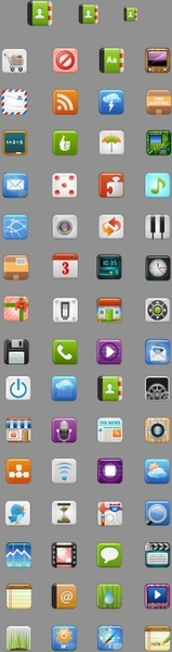 icandies beautiful mobile phone icon vector