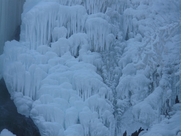 ice cascades ice formations urach waterfall