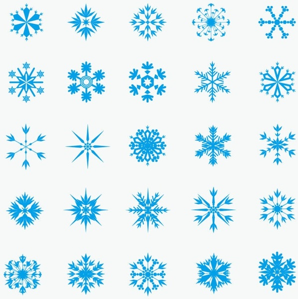 73030ed0e08a Ice crystal snowflakes vector graphic Free vector in Encapsulated ...