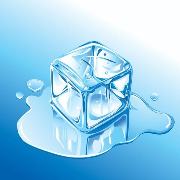 ice realistic vector