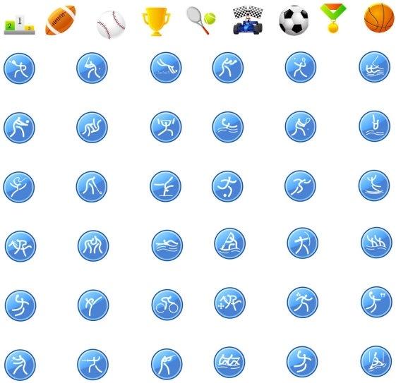 icon go sports articles vector