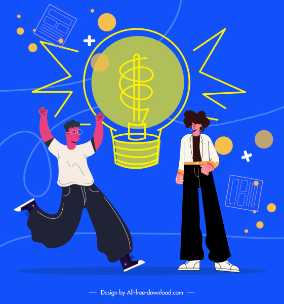 idea conceptual painting youth lightbulb sketch