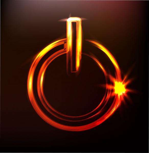 power button template modern dynamic twinkling lights decor