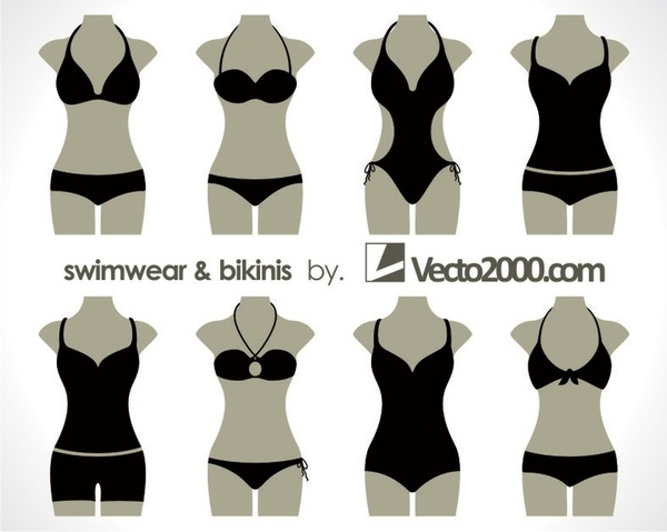 Illustration Vector Of Swimwear And Bikinis Free Vector In Coreldraw Custom Swimsuit Patterns Free