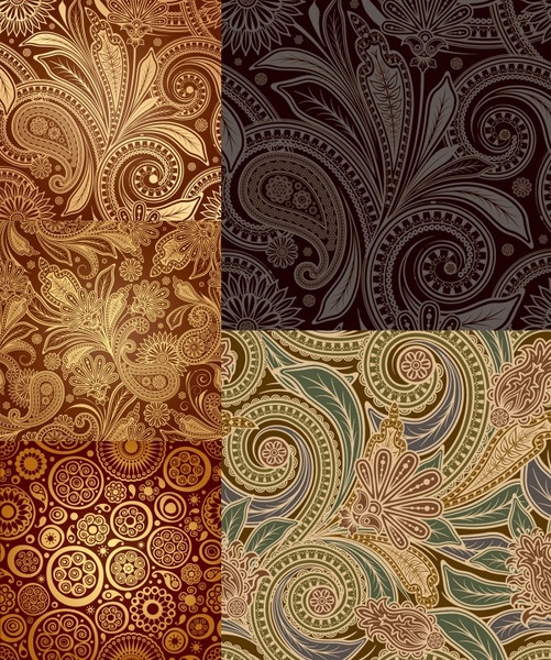 india ham pattern vector