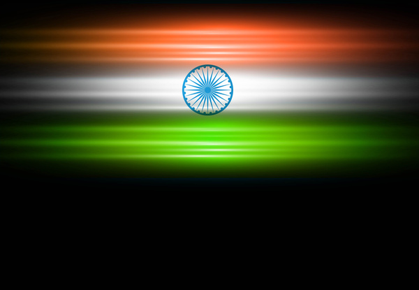 Indian flag black bright stylish tricolor vector Free ...