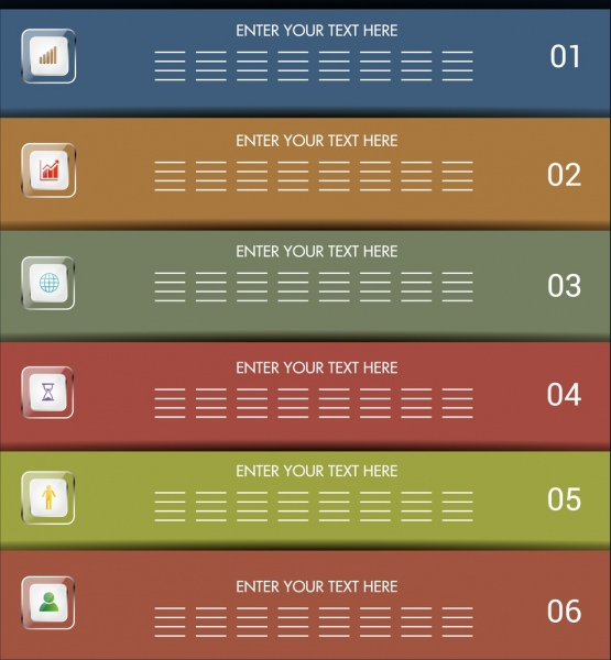 infographic background colorful horizontal bars design