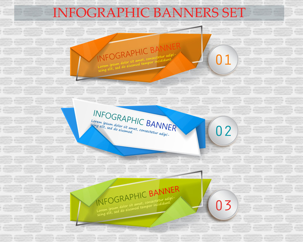 infographic banner sets with modern style illustration