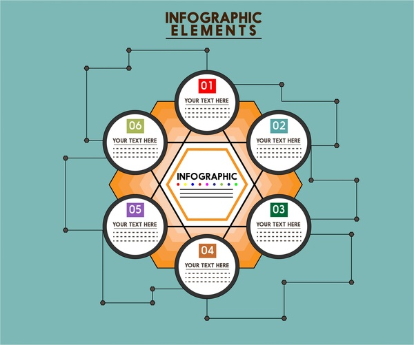 infographic design elements and geometry style