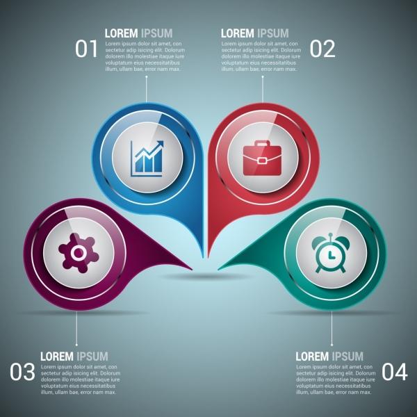 infographic design elements shiny colorful circles decoration