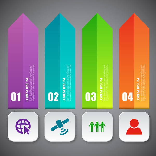 infographic diagram with 3d vertical arrow illustration