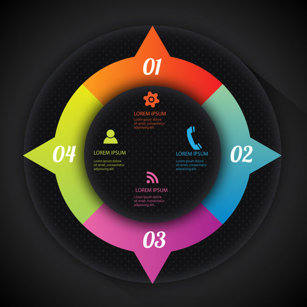 infographic illustration with modern style and dark background