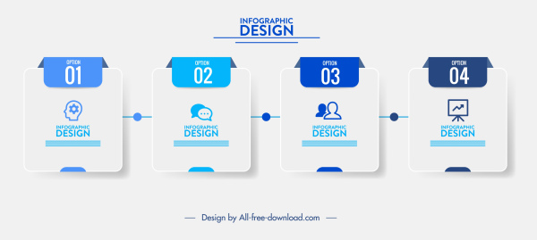 infographic template modern square tags decor