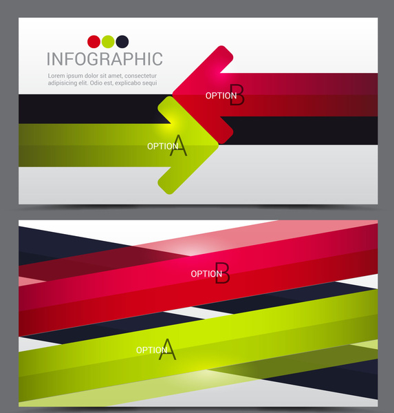 infographic template with colorful arrows background