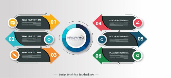 infographic templates modern elegant shapes
