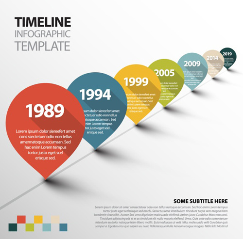 Infographic Timeline Vector Template Free Vector In Adobe