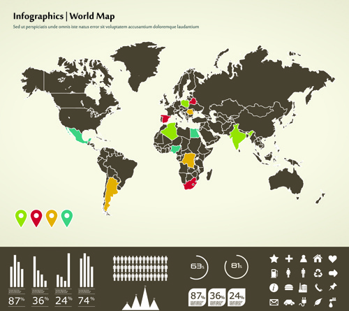 Infographics and world map creative vector free vector in infographics and world map creative vector gumiabroncs Choice Image