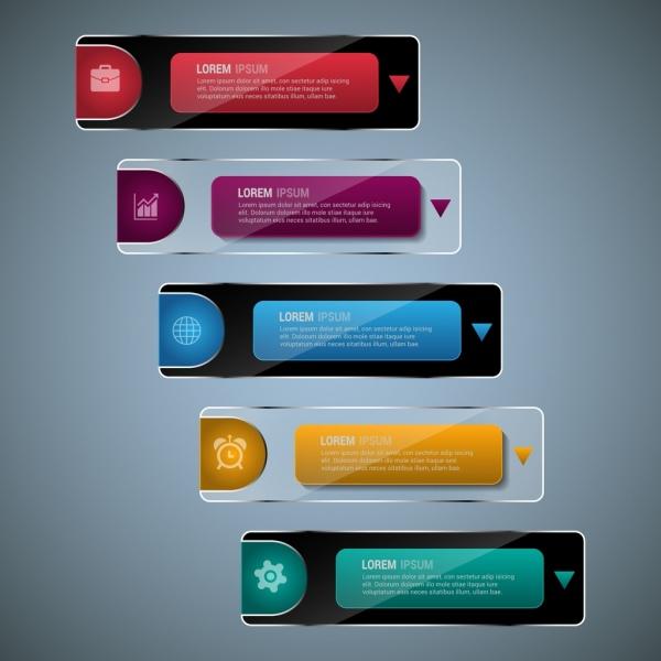 infographics design elements shiny horizontal bars decoration