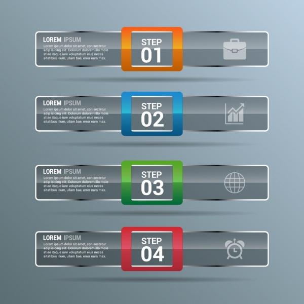 infographics design template grey horizontal bars decoration