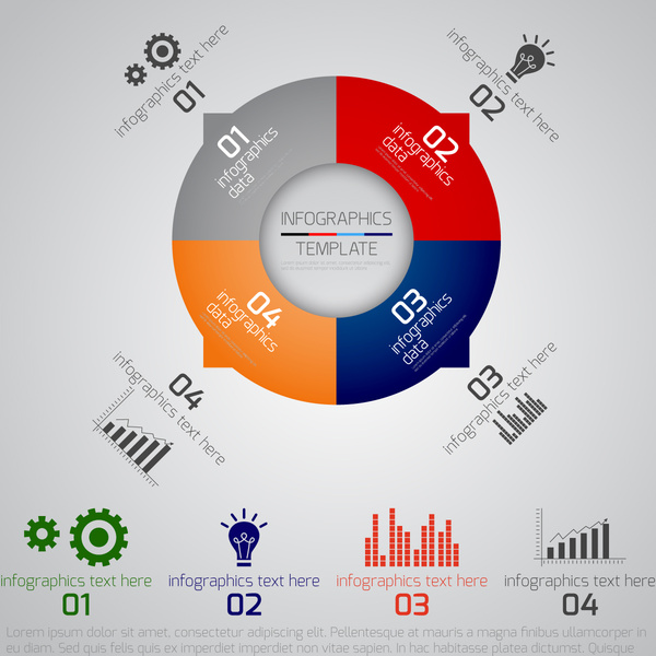 infographics template for business project