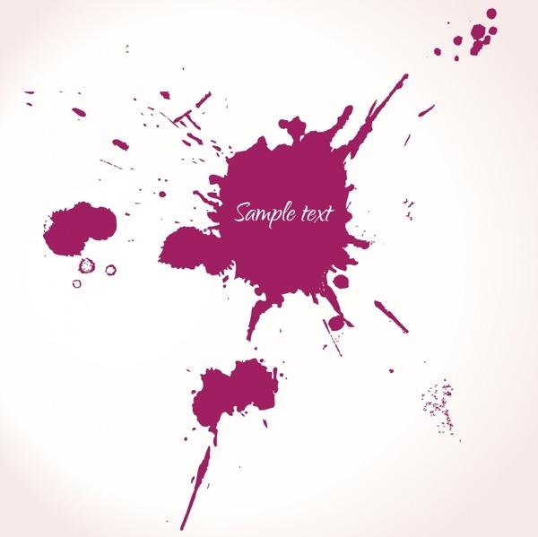 splattered ink background violet grunge decor