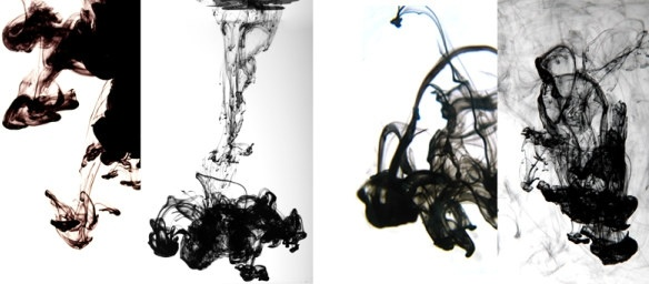 ink in water diffusion effect of highdefinition picture