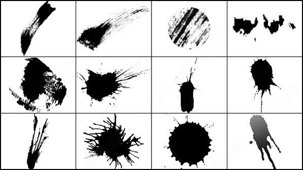 ink splatter brush