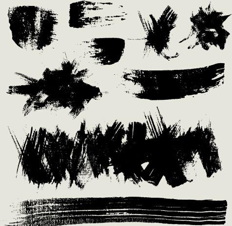 ink splatter grunge vector