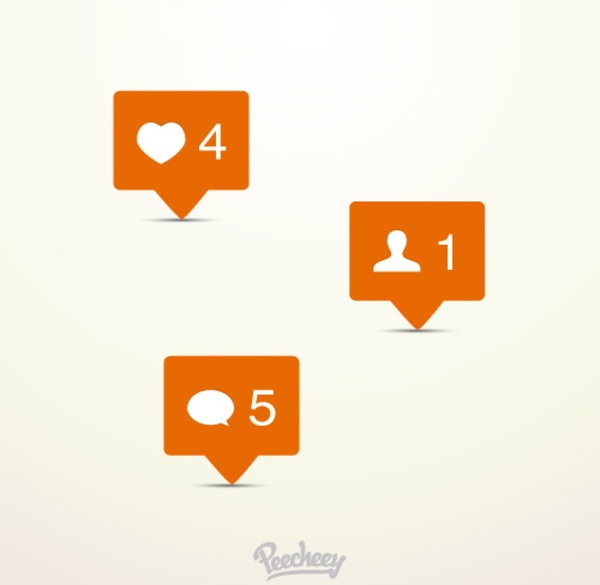 Instagram Notification Icons Free Vector In Adobe Illustrator Ai Ai Vector Illustration Graphic Art Design Format Format For Free Download 197 91kb