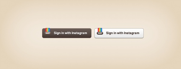 Instagram Sign-in Buttons Free psd in Photoshop psd (  psd ) file