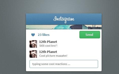 Instagram Widget PSD