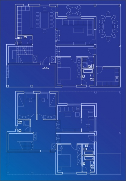 architecture interior design drawing flat sketch