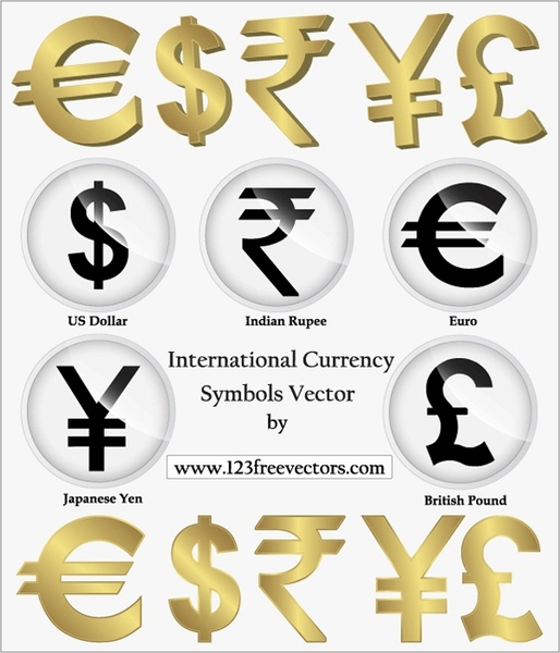 International Currency Symbols Vector Png Indian Rupees Free
