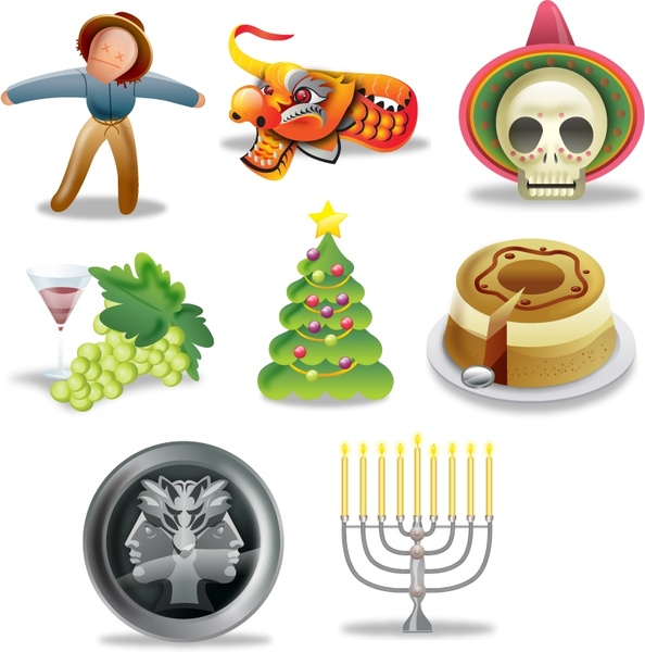 International Holidays Icons icons pack