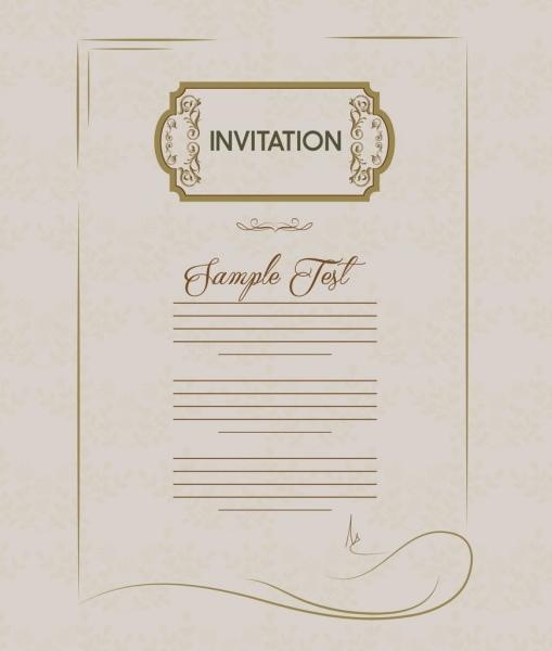 invitation card template retro style